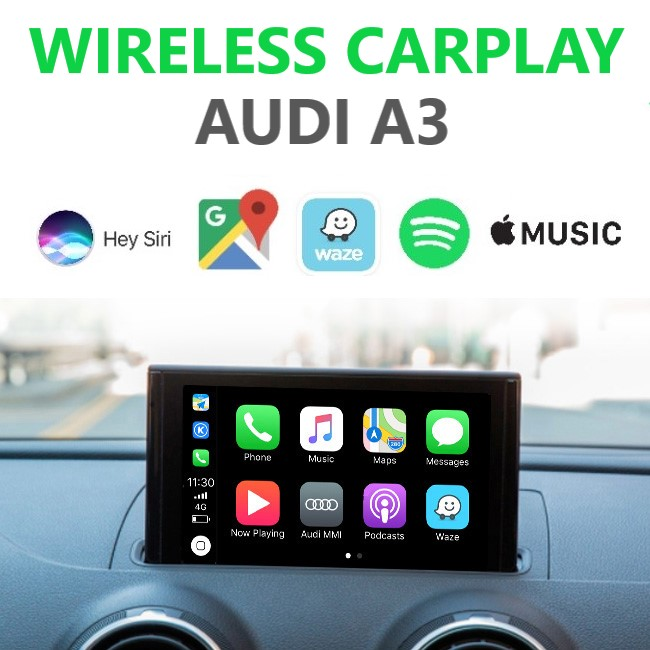 Audi A3 8V Wireless Apple CarPlay Retrofit Kit - MMI 3G/3G Plus