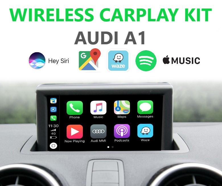 Audi A1 (2010+) Wireless Apple CarPlay Retrofit Kit - MMI 2G/3G