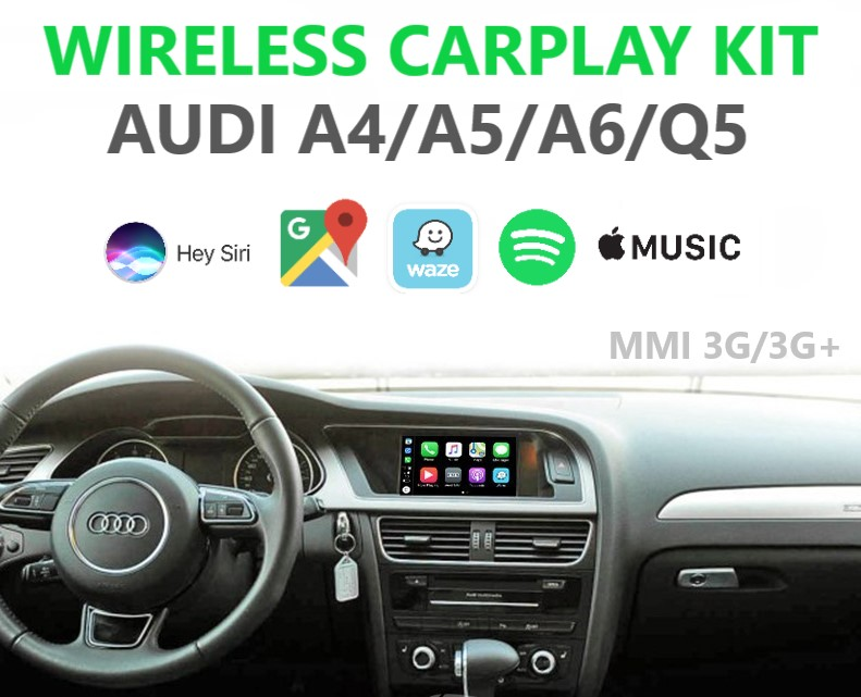 Audi MMI 3G Wireless Apple CarPlay Retrofit Kit - A4, A5, A6, Q5
