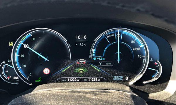 BMW Speed limit info