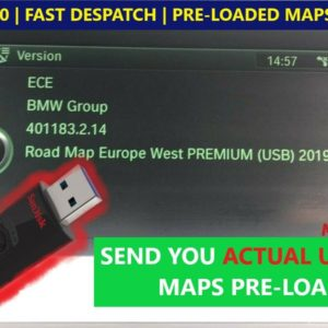 BMW Pre-Loaded USB Sat Nav Map Update – FSC Code