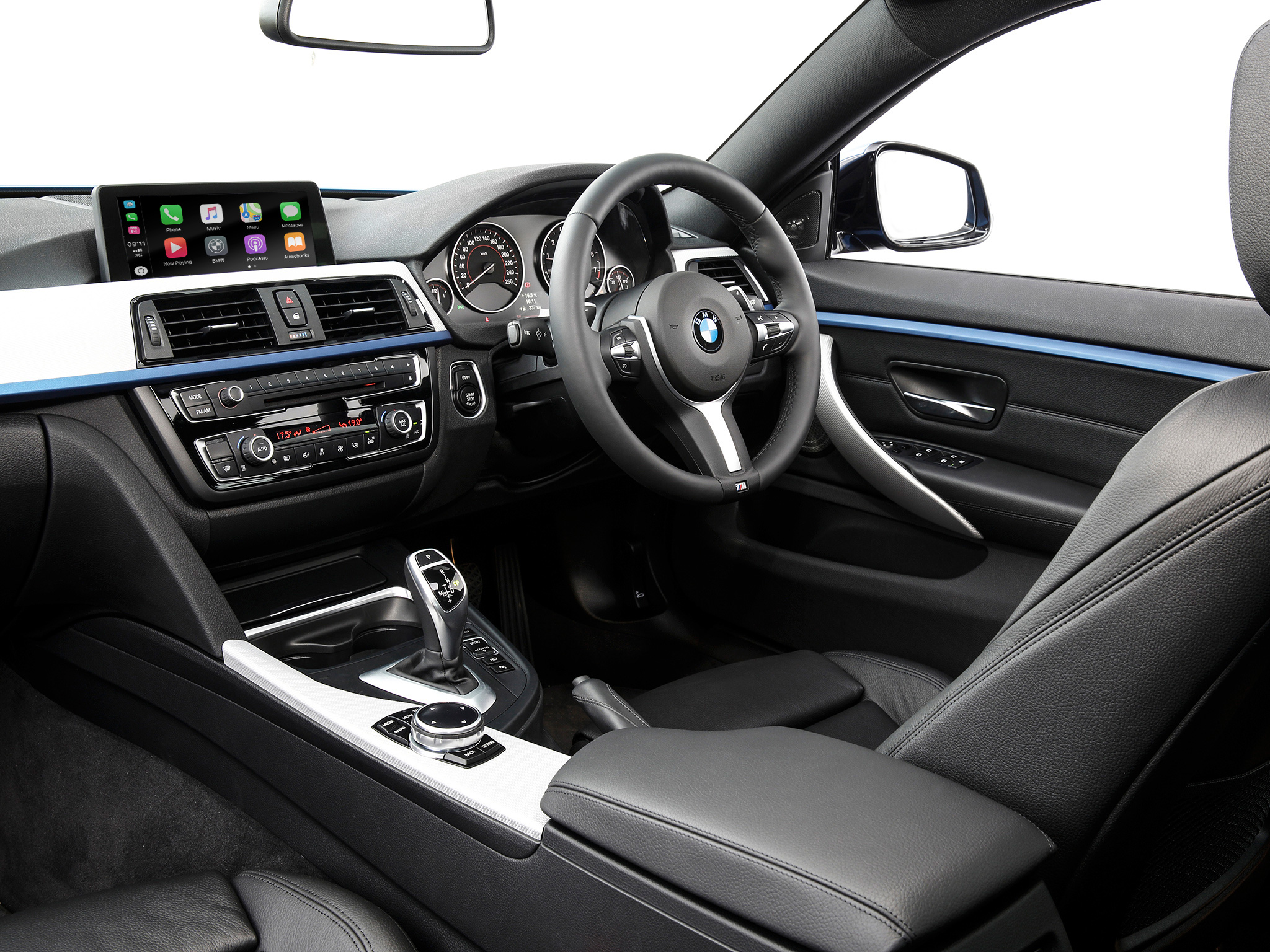 BMW F30 interior with carplay