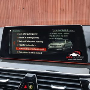 BMW G30 Acoustic Lock Menu USB Coding